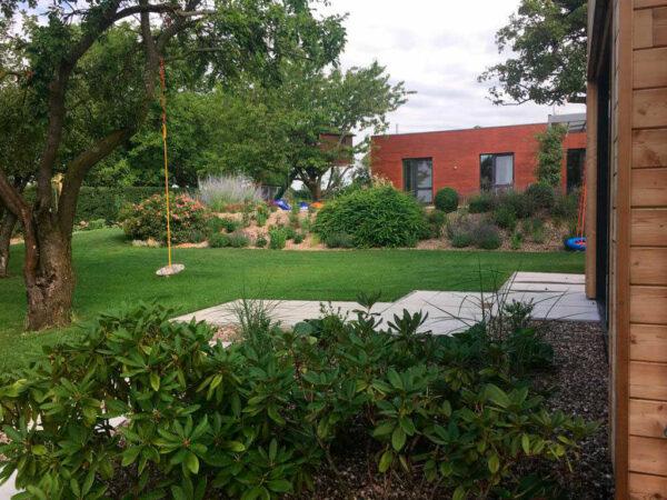 Zahrada u rodinného domu vOpočně