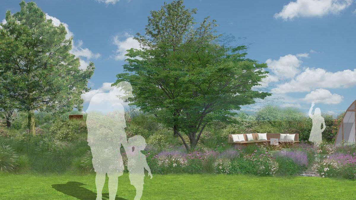 Zahrada u vily ve Slatině